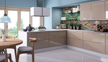 Bella High Gloss Cappuccino Kitchen - By BA Components