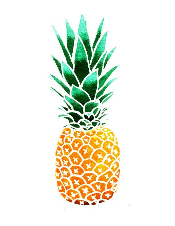 Resultado de imagem para pineapple watercolor painting