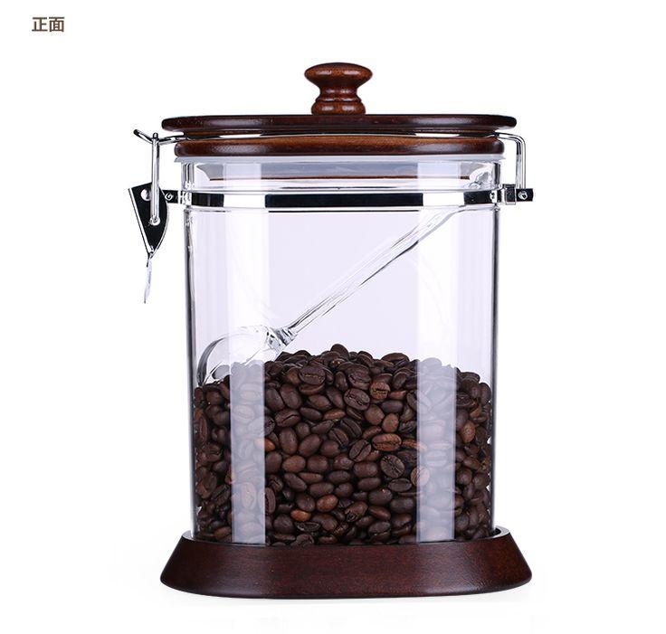 Ями ями кофе просто кофе резервуар резервуар для хранения загерметизированная банки влагостойкий канистры канистра чай с кнопкой печать отправил ложку-Таобао фасоли глобальной вокзала