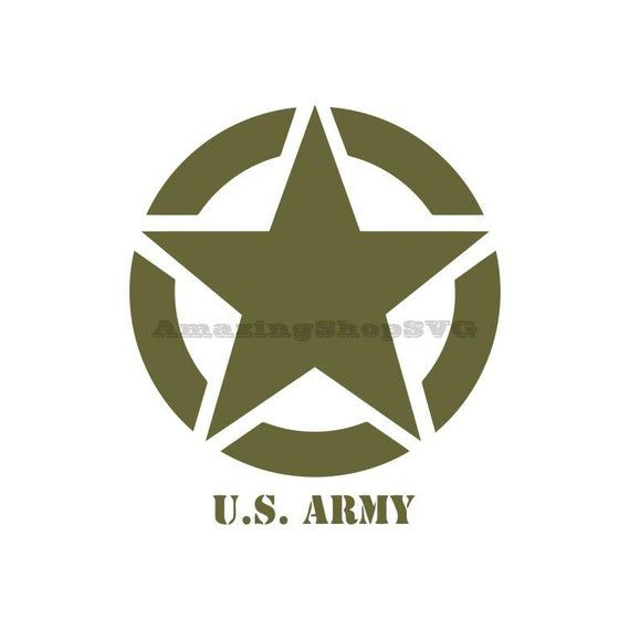 United States Us Army Logo Cricut Cutter Svg Eps Dxf Pdf Png Us Army Logo Stencil Template Us Army