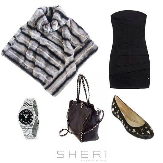 [OUTFIT] #SHERì e l'eleganza del venerdì sera. www.sheri.it #fur #furfashion #handmade #outfit #MadeInItaly