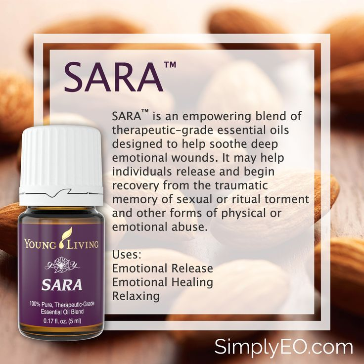 SARA™ is an empowering blend of therapeutic-grade essential oils designed to help soothe deep emotional wounds.
