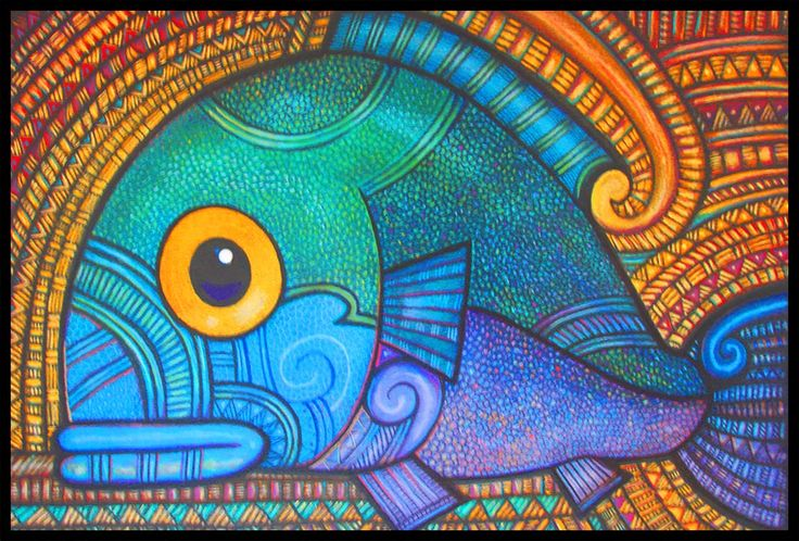 One of my favourite NZ illustrators has always been Warren Pohatu. We looked at his work as a provocation for patterning our sea creatures. ...