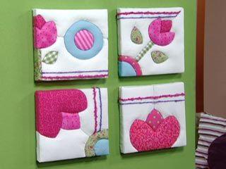 Manualidades y artesan as cuadros con tela y lana - Manualidades faciles cuadros ...