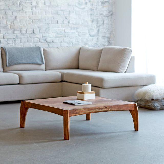 table de salon 95x95 en bois de palissandre luna meubles pinterest tables basses en bois. Black Bedroom Furniture Sets. Home Design Ideas
