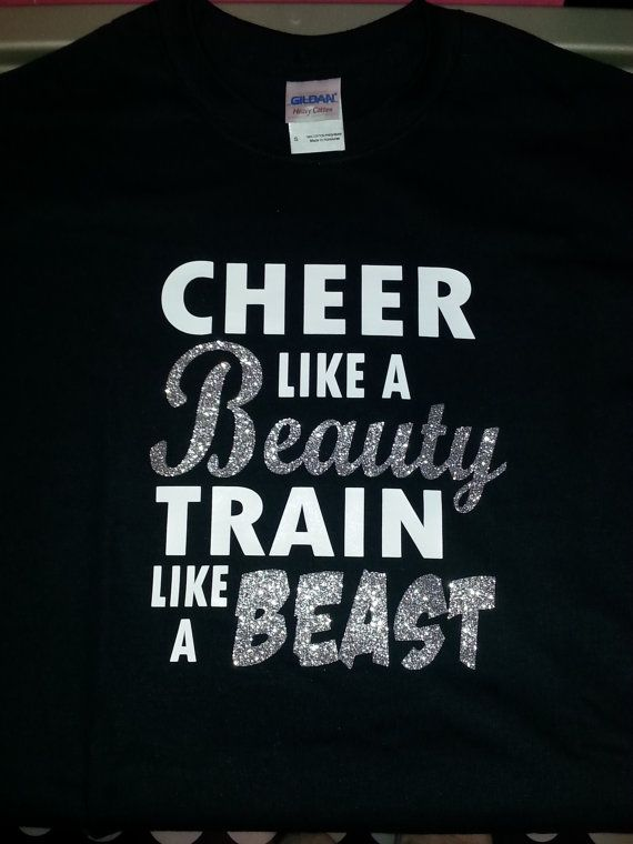 Cheer like a Beauty Train like a Beast by MaineTopNotchBows