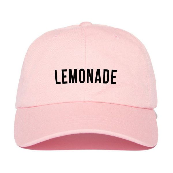 Lemonade formation Strap Back Hat ($25) ❤ liked on Polyvore featuring accessories, hats, strap hats and cotton hat