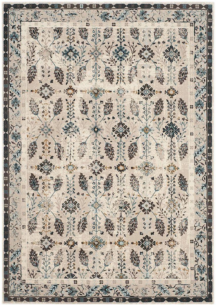 Safavieh Kaden Bereich Teppich, Creme/Türkis, 121x 182cm: Amazon.de: Küche & Haushalt