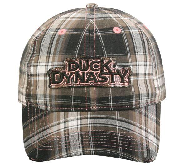 Duck Dynasty Black Plaid Hat