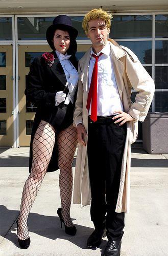 Zatanna and John Constantine cosplay at Long Beach Comic Con.