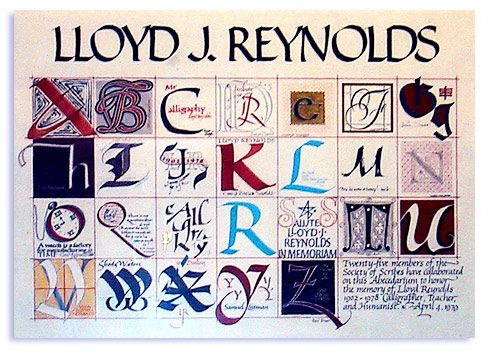 Alphabet Tribute in calligraphy