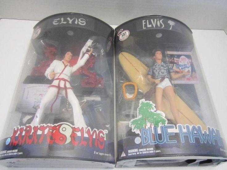 Elvis Presley Action Figure Dolls NIP Karate and Blue Hawaii Dragons & Surfboard #XToys #DollswithClothingAccessories #elvispresley #actionfigures #dolls