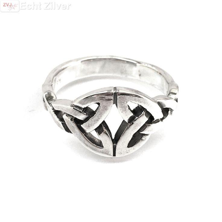 Echt 925 zilveren ring met keltische tekens