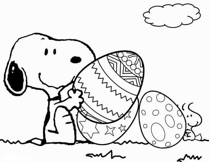 Read Moresnoopy Easter Coloring Pages Snoopy Coloring Pages