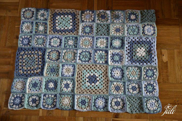 granny square blue blanket, crochet, a to je rub... Mozno uvidis, co si chcela vidiet...