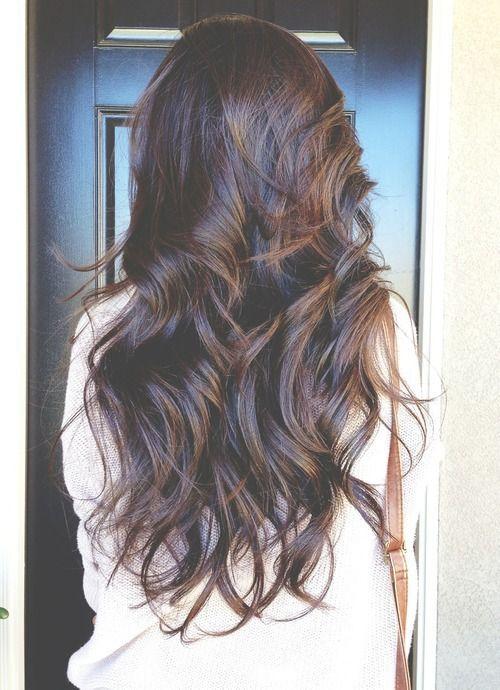 Gorgeous brown curly hair.