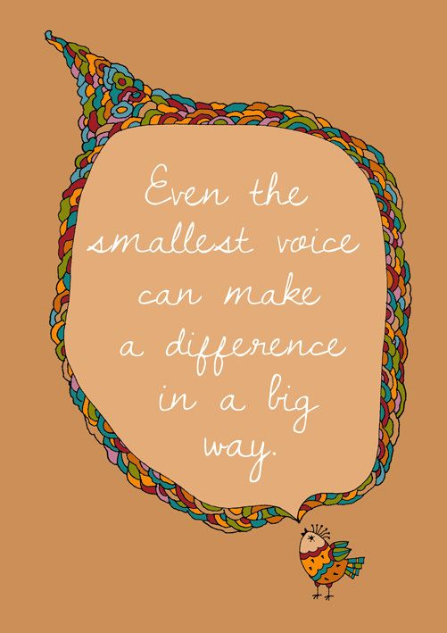Your voice is important. Use it. #inspiration #power #awareness