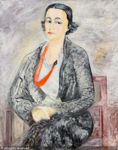 Sigrid Hjertén Grünewald - Portrait of Mrs Signe Henschen 1934