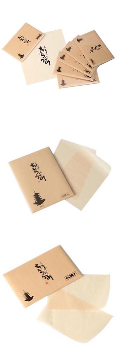 Blotting Paper: Kyoto Toji Temple Oil Blotting Paper High Quality Japanese Washi 50 200 Sheets -> BUY IT NOW ONLY: $49.99 on eBay!