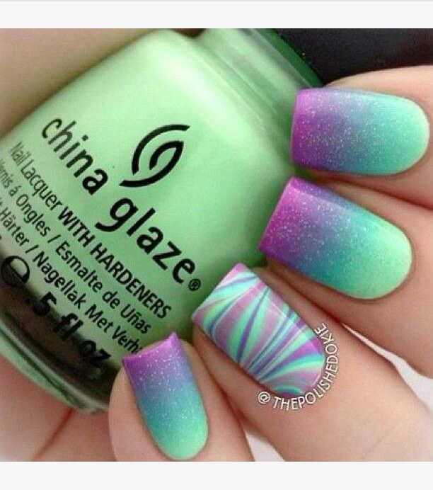 16 Super Cool Ombre Gradient Nail Art Tutorials: Best 25+ Water Marble Nails Ideas Only On Pinterest