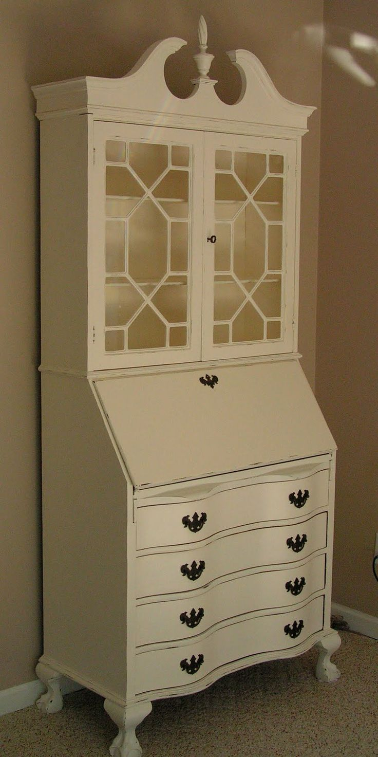Another painted secretary. This might be the exact same one I have, it will look so much better painted.