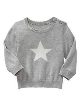 Sweater met ingebreide ster | Gap