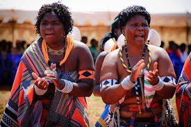 Elderly Venda women singing at wedding