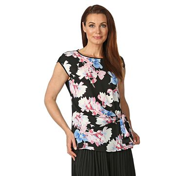 Vince Camuto Sleeveless Poetic Bouquet Tie Front Blouse