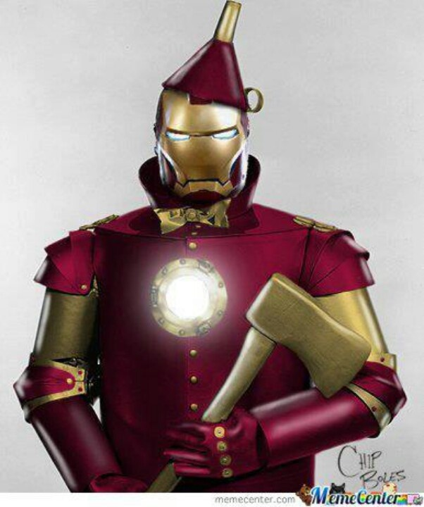 Iron Man tin man mashup | Superhero Boys Club | Pinterest