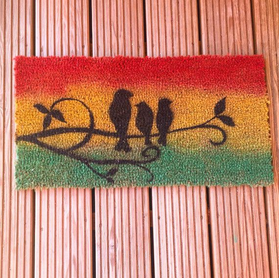 Three little birds doormat by ByRandi on Etsy