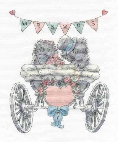 Tatty Teddy 'Mr & Mrs' Cross Stitch Kit   DMC Kits UK – My Sewing Box