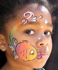 Cute fish face paint