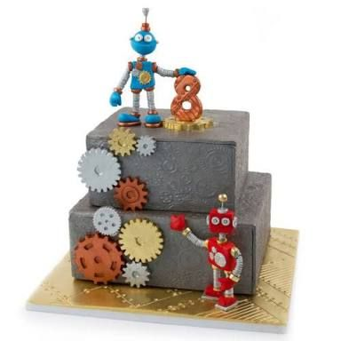 1000 Ideas About Robot Cake On Pinterest Rectangle Cake