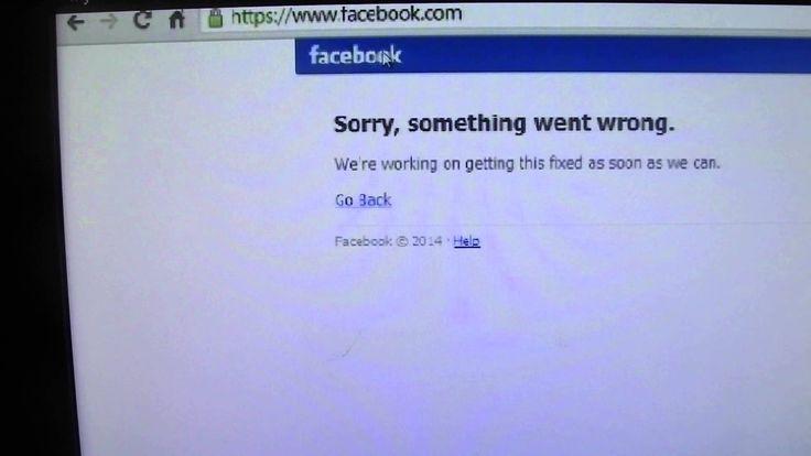 Facebook is Down 3 September 2014