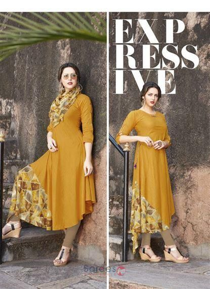 50371bd92d9d11 Designer Rayon Printed Kurtis Wholesale Collection Womens Fashion Online
