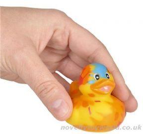Bulk Buy | Novelty Tie Dye Pattern Rubber Duck (5cm)