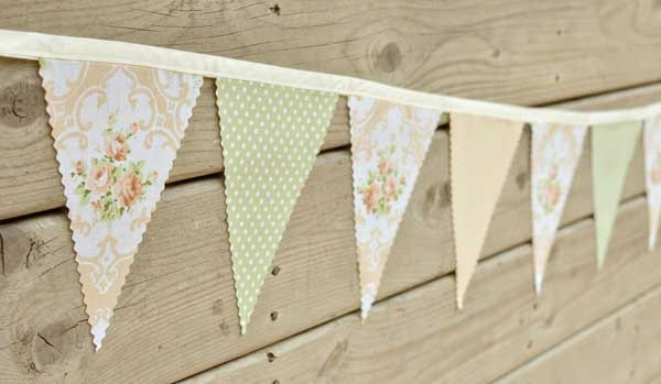 Soft  - Vintage Bunting Banner with 12 Flags. $22.00, via Etsy.: Vintage Bunting