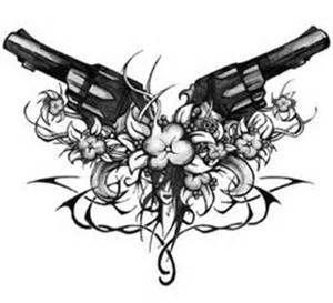 crossing guns tattoo - Bing Images
