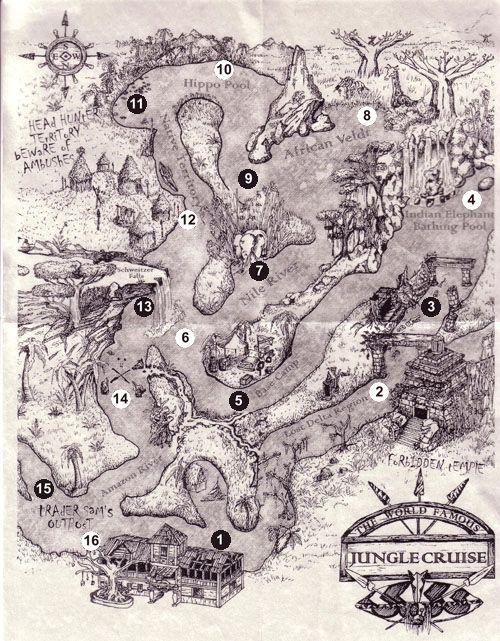 Cuando te estés bajando del Jungle Cruise, pídele a un miembro del elenco un mapa.