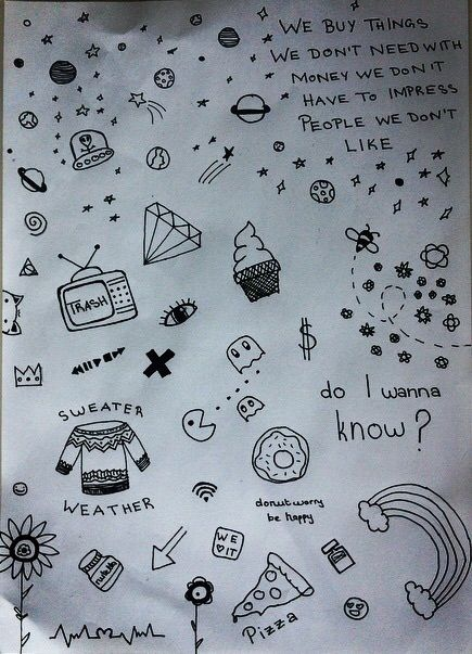 1000 images about doodles on pinterest drawing flowers for Tumblr hand doodles