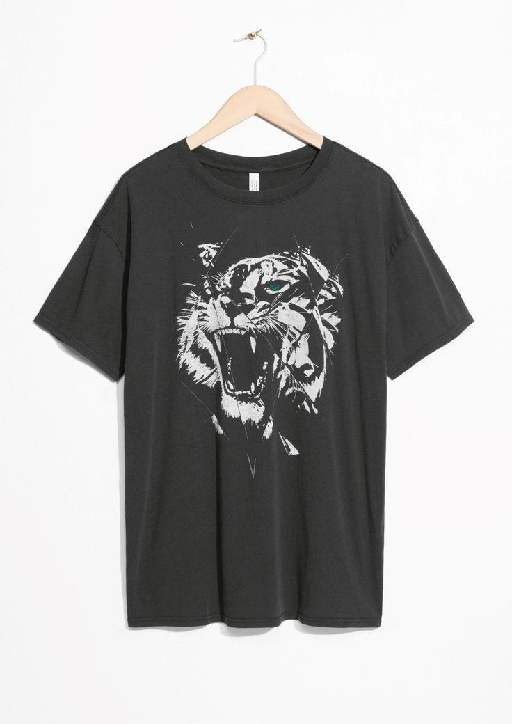 & Other Stories image 1 of Roaring Tiger Tee in Black