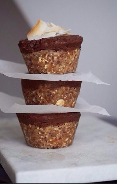 Karamelmuffins med chokolade top