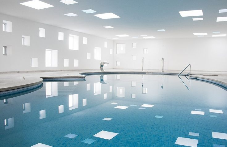 Indoor Spa pool for Hotel Castell dels Hams in Majorca, Spain by A2arquitectos
