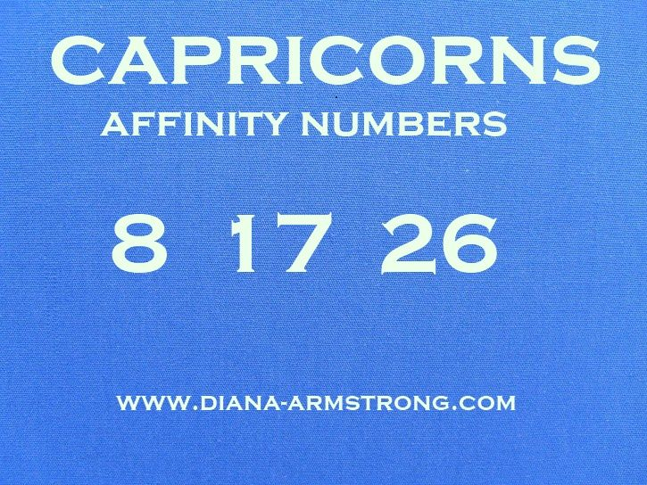 For All Fellow Capricorns. You Can Use These Numbers For Important Dates...Or The Lottery!
