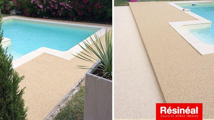 45 best Plages et countours de piscine images on Pinterest - terrasse beton imprime prix m