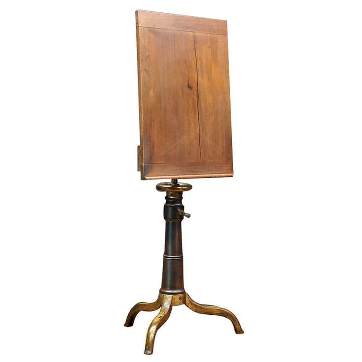 1870's Victorian Wood & Cast Iron Elevating Drafting Table Podium from J. L. Ross
