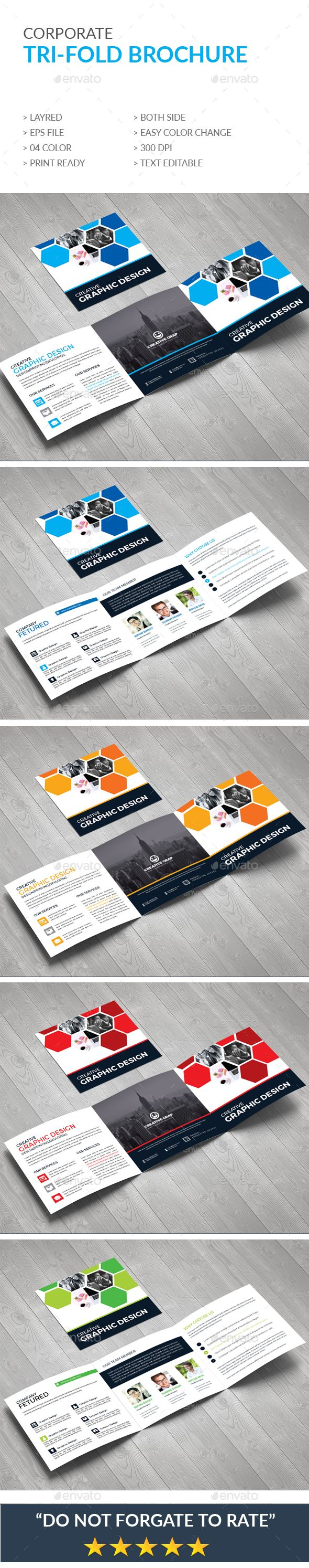 Trifold Brochure Template Vector EPS
