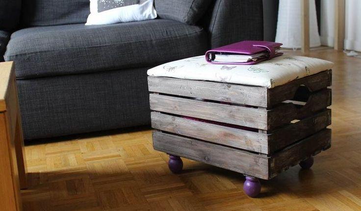 DIY : Fabriquez un pouf très pratique avec rangement intégré. Tuto réalisé par : Stéphaniebricole.com