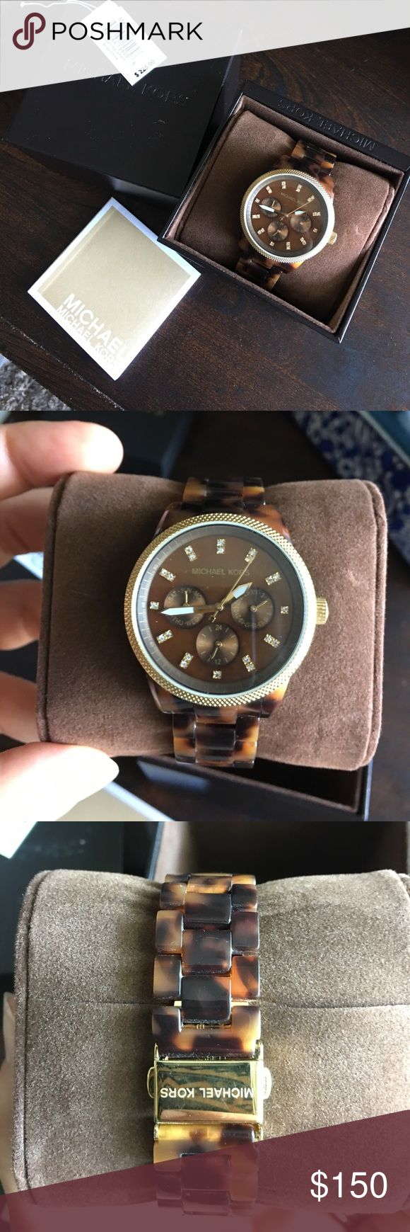 Michael Kors tortoise watch Tortoise watch. Tag shown. Manual included. Michael Kors Accessories Watches