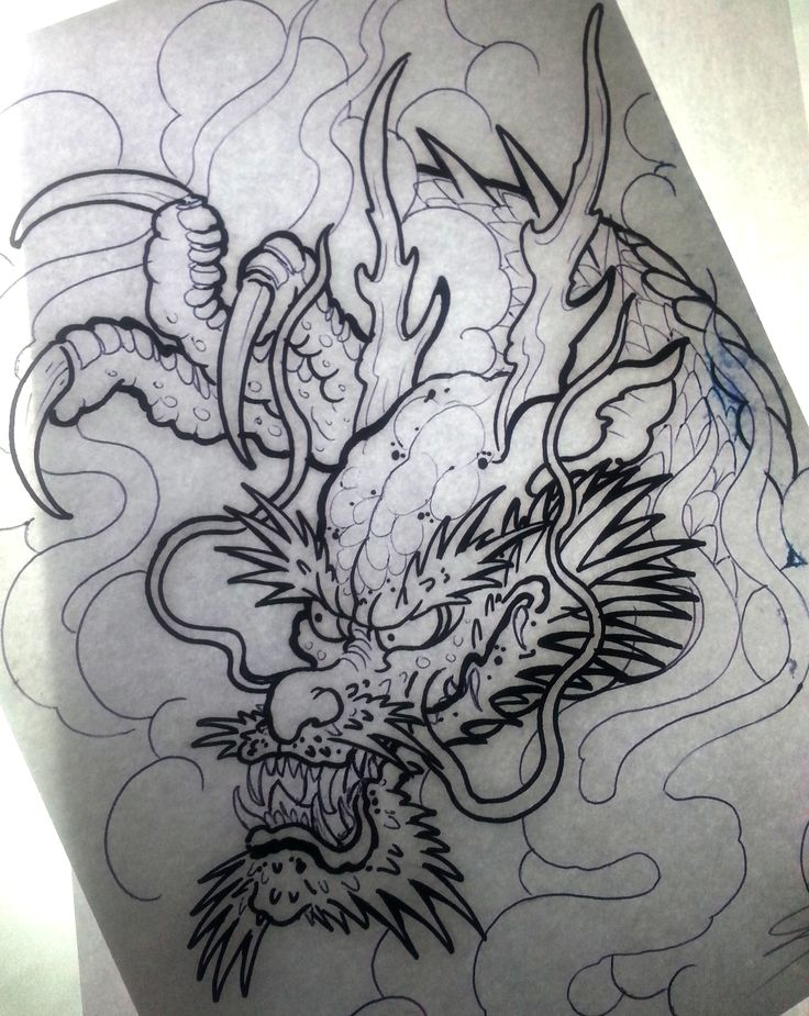 dragon draw sketchs pinterest dragons tattoo and japanese tattoos. Black Bedroom Furniture Sets. Home Design Ideas